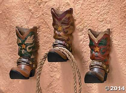 Set Of Three Cowboy Boot Wall Hooks Is Ideal For Keeping Wet Towels Off The  Bathroom Floor, But These Sturdy Little Boots Could Also Be Used In Other  Rooms, ...