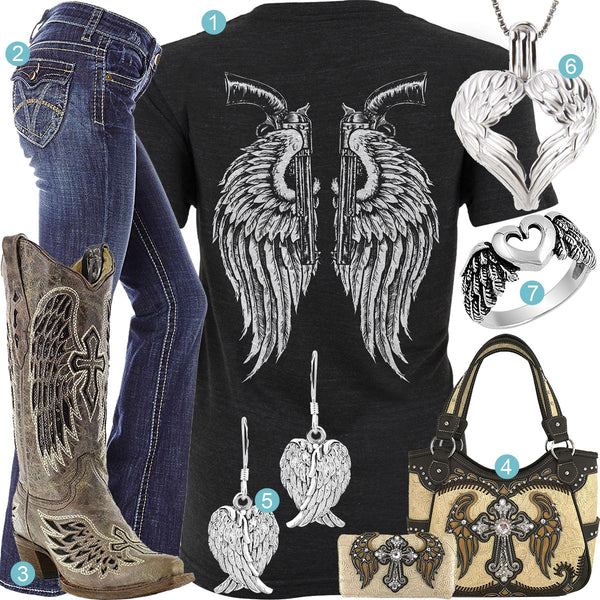 Angel Wings & Revolvers Outfit