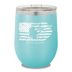 Shotgun USA Flag 12oz Stemless Wine Cup