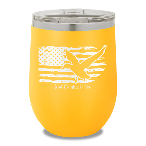 Duck USA Flag 12oz Stemless Wine Cup