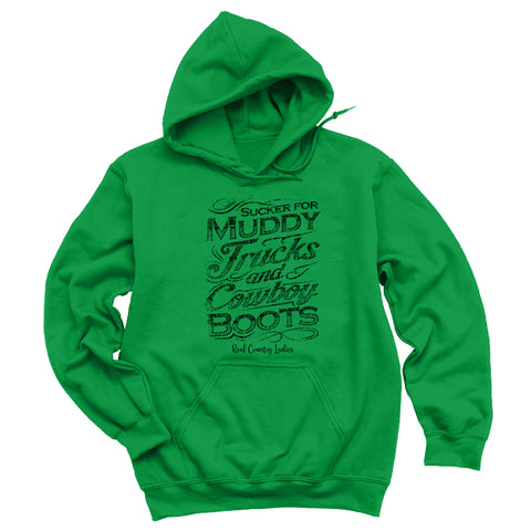 Muddy Trucks And Cowboy Boots Hoodies & Long Sleeves