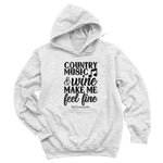 Country Music And Wine Hoodies & Long Sleeves