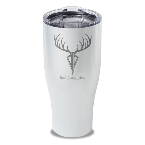 Arrow Deer Laser Etched Tumbler