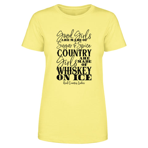Whiskey On Ice Front Apparel