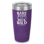 Bare Foot And Buck Wild Laser Etched Tumbler
