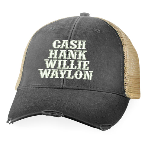 Cash Hank Willie Waylon Hat