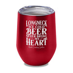 Longneck Ice Cold Beer Laser Etched Tumbler