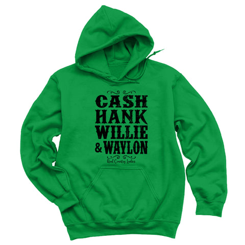 Cash Hank Willie Waylon Hoodies & Long Sleeves