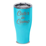 Cuter In Camo Laser Etched Tumbler