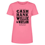 Cash Hank Willie Waylon Front Apparel