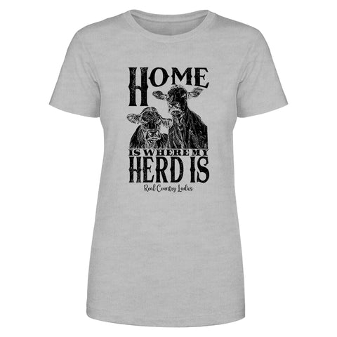 Home Is Where My Herd Is Front Apparel