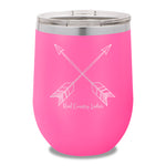 Cute Arrows 12oz Stemless Wine Cup
