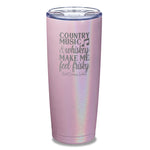 Country Music And Whiskey Laser Etched Tumbler
