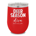Deer Season Diva 12oz Stemless Wine Cup