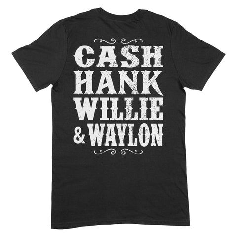Cash Hank Willie Waylon Apparel