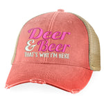 Deer And Beer That's Why I'm Here Hat