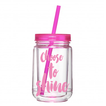 Choose to Shine - Mason Jar