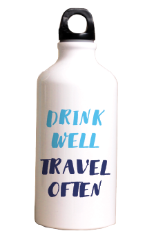 Drink well travel often - Termos Acero