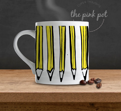 the pencil cup