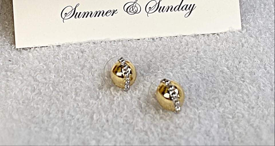 Two Tone Stud Earrings