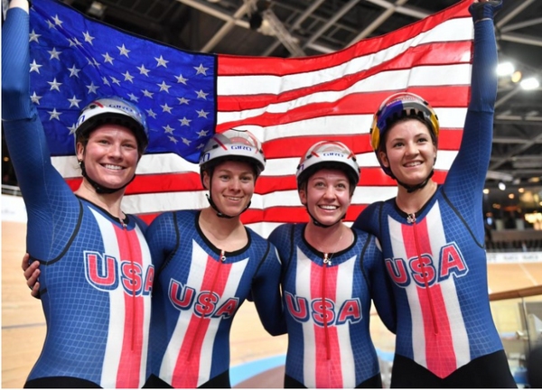 U.S. Women Dedicated Team Pursuit Gold Medal to Kelly Catlin