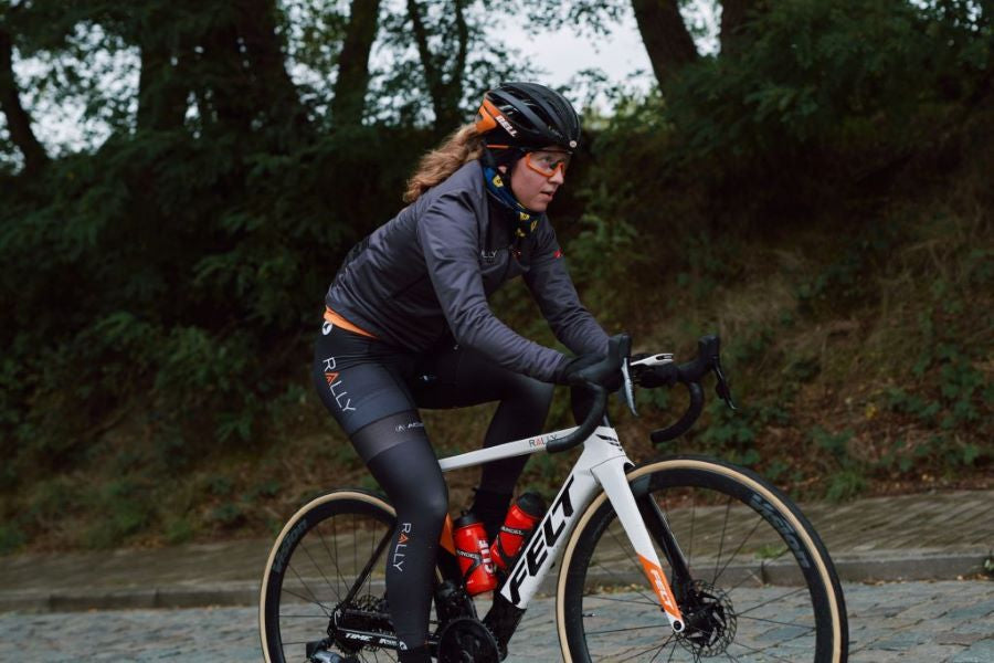 Emma White ready for the cobbles at Classics - Rally Cycling