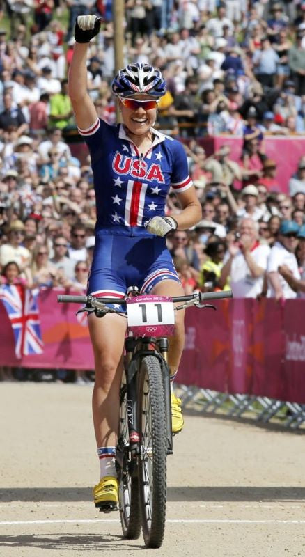Georgia Gould competing at the 2012 Olympics - Rally Cycling