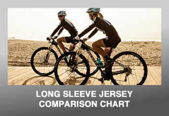 Custom Cycling Long Sleeve Jersey Comparison Chart
