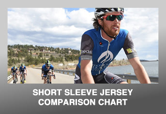 Custom Cycling Short Sleeve Jersey Comparison Chart