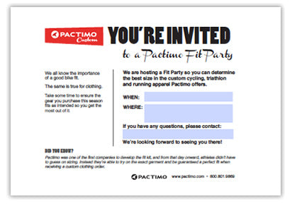 Custom cycling clothing fit kit party invitation