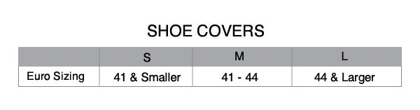 Custom cycling shoe cover size chart
