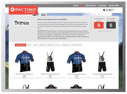 Custom Cycling Clothing Team Stores