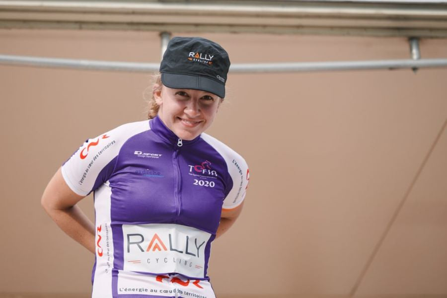 Emma White Purple Jersey Tour de L'Ardeche - Rally Cycling