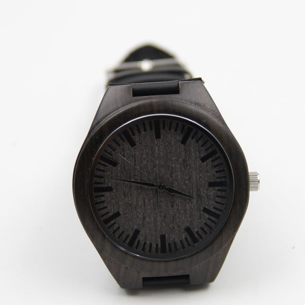 Natural Bamboo Wood Watch (Dark Wood)