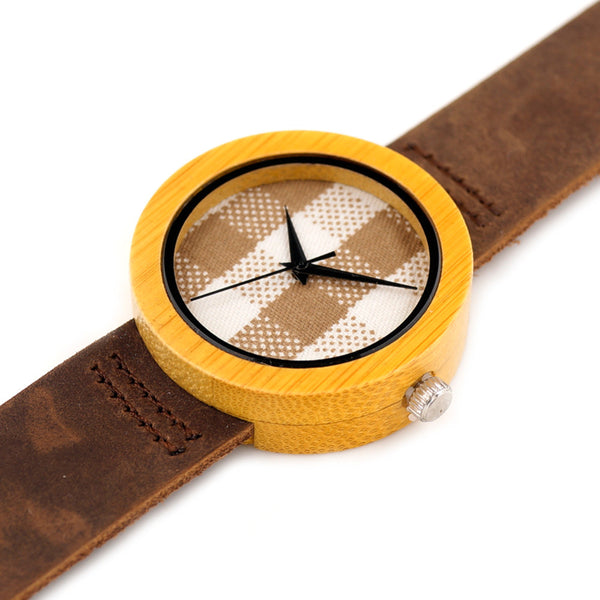 Natural Bamboo Wood Watch (Round)