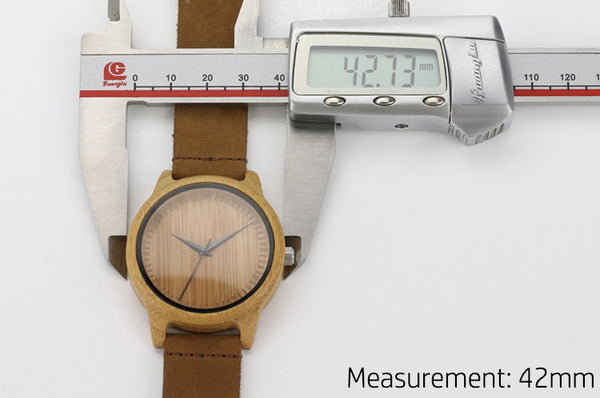 Natural Bamboo Wood Watch (Bestseller)