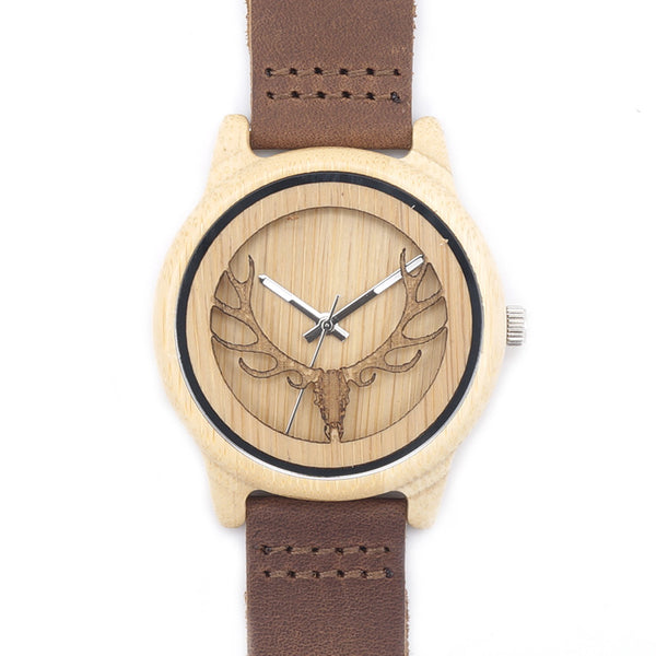 Natural Bamboo Wood Watch (Stag)