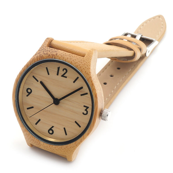 Natural Bamboo Wood Watch (Numbered)