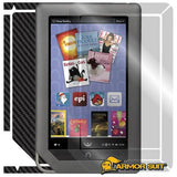 BARNES & NOBLE NOOK COLOR Screen Protector + Black Carbon Fiber Skin Protector