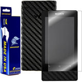 Sony Walkman NWZ-F805 / NWZ-F806 Screen Protector + Black Carbon Fiber Film Protector