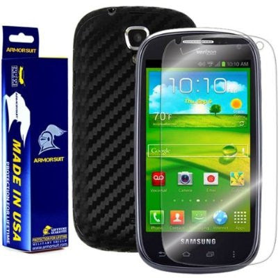 Samsung Galaxy Stratosphere II Screen Protector + Black Carbon Fiber Skin Protector