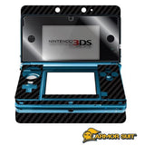 Nintendo 3DS Screen Protector + Black Carbon Fiber Skin Protector