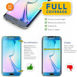 Samsung Galaxy S6 Edge+ / S6 Edge Plus Screen Protector + White Carbon Fiber Skin