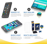 Samsung Galaxy Note II Screen Protector + Black Carbon Fiber Skin Protector