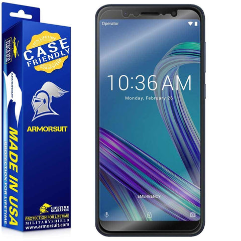Asus Zenfone Max Pro M1 Case Friendly Screen Protector