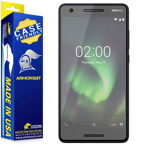 Nokia 2.1 Matte Case Friendly Screen Protector