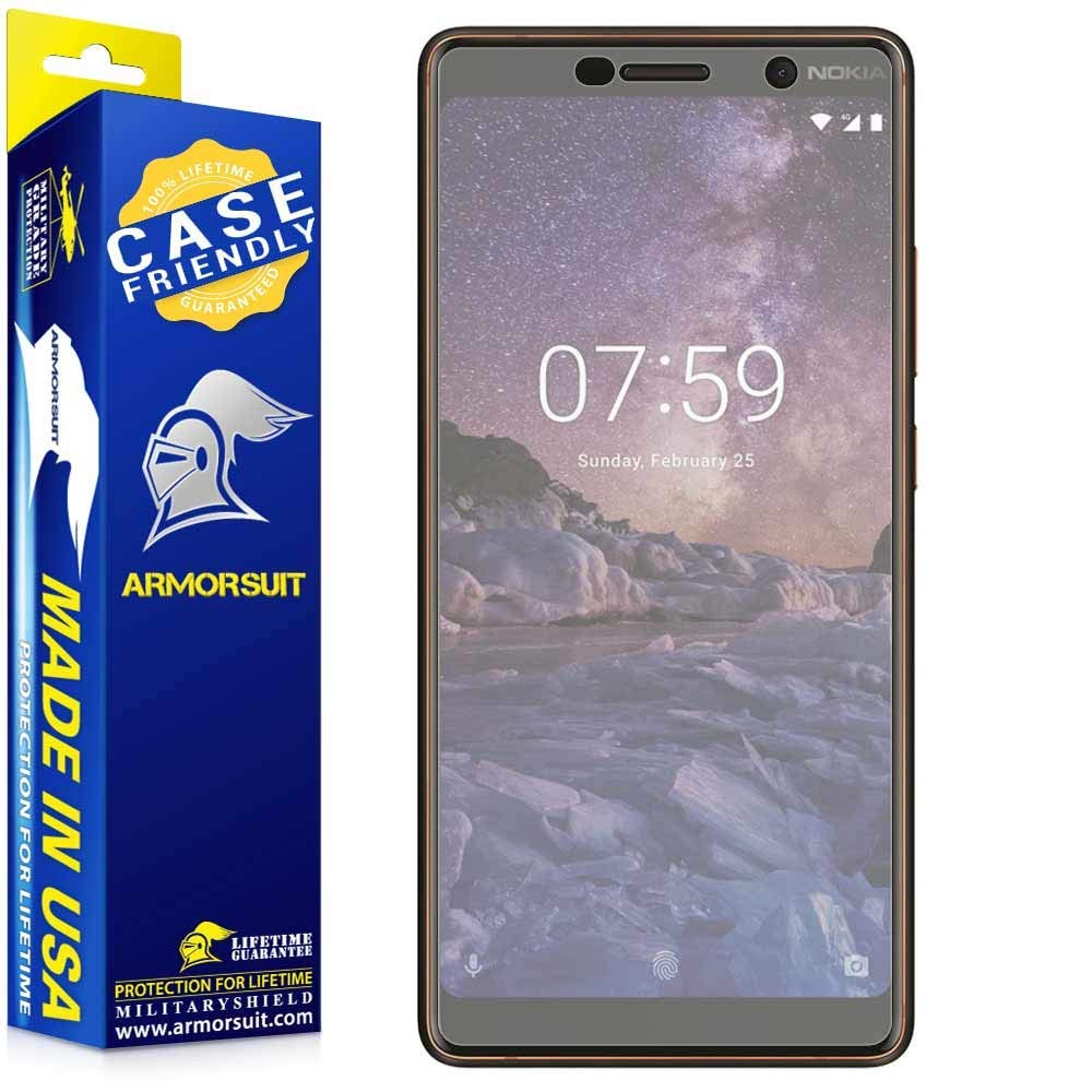 Nokia 7 Plus Matte Case Friendly Screen Protector