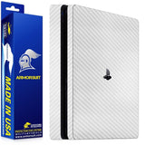 Sony PlayStation 4 PS4 Slim White Carbon Fiber Film Protector