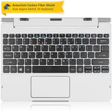 Acer Aspire Switch 10 (Model sw5-011) Keyboard Only - White Carbon Fiber Film Protector