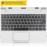 Acer Aspire Switch 10 (SW5-012) Keyboard Only - White Carbon Fiber Full Body Skin